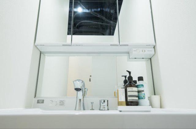 ビヨンド池袋ジムの洗面化粧台